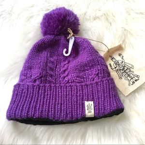 Nirvanna Designs Pom Pom Wool Beanie Hat